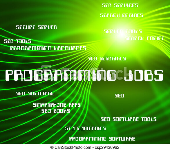 Programming Jobs Represents Software Design And Development Programming Jobs Indicating Software Development And Employment