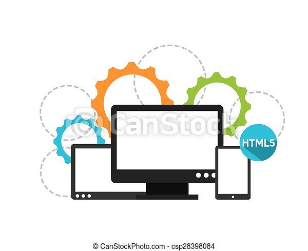 programming software design vector illustration eps10 vector rh canstockphoto com