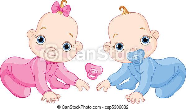 Lindos gemelos espeluznantes - csp5306032