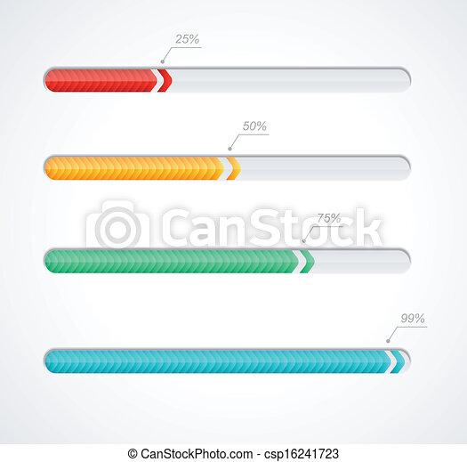 Barras de carga de progreso - csp16241723