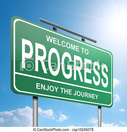 Concepto de progreso. - csp10245078