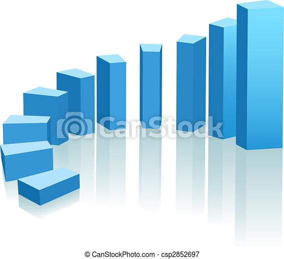 Un gráfico de crecimiento hacia el progreso - csp2852697