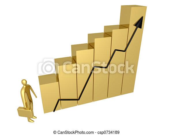 El progreso del negocio - csp0734189