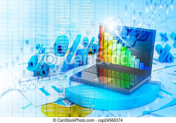 Carta de progreso de negocios - csp24566374