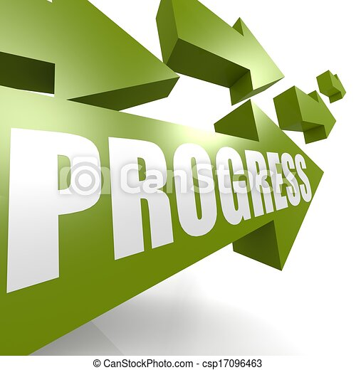Progress arrow green - csp17096463