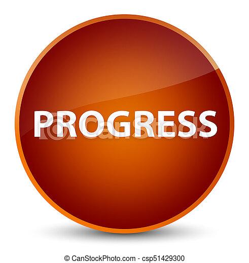 Progress elegant brown round button - csp51429300