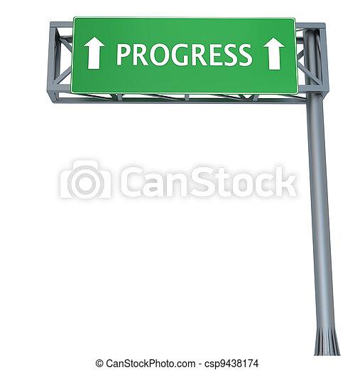 Progress sign - csp9438174