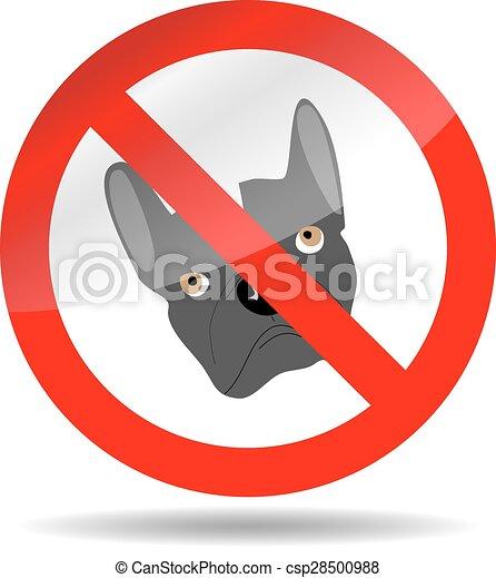 Perro prohibido - csp28500988