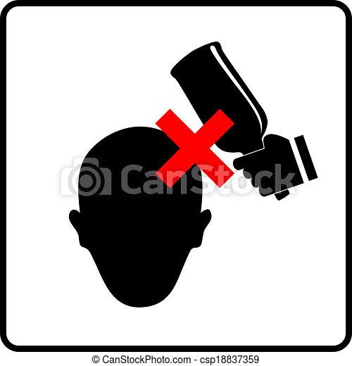 cabeza prohibido