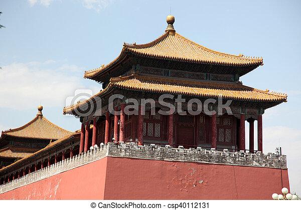 Ciudad prohibida, Beijing, China - csp40112131