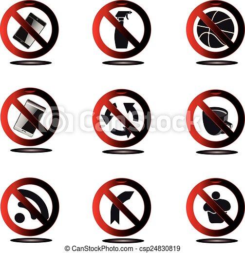 prohibido, señales - csp24830819