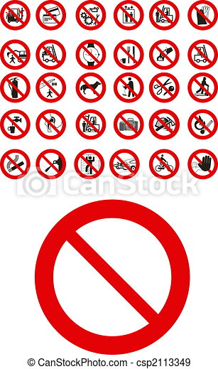 Prohibited signs  - csp2113349