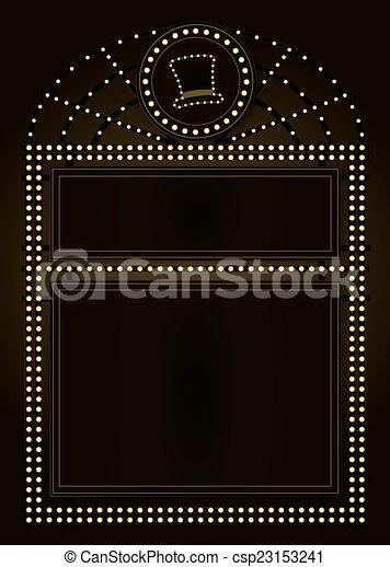 Prohibition Era Background and Frame Design - csp23153241