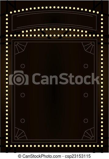 Prohibition Era Background and Frame Design - csp23153115