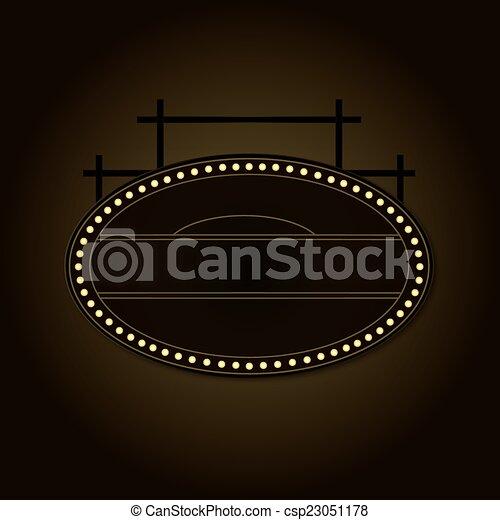 Prohibition Era Boardwalk Sign - csp23051178