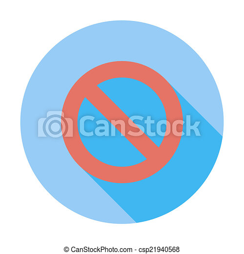 Prohibition sign. - csp21940568