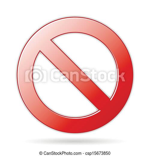 Prohibition Sign - csp15673850