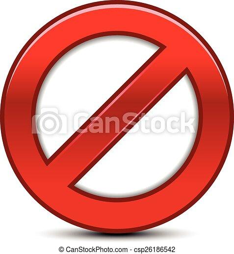 Prohibition Sign - csp26186542