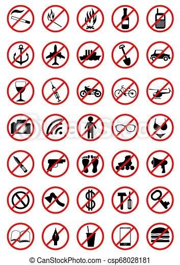 Prohibition sign - csp68028181
