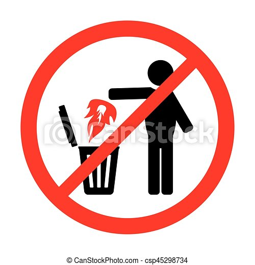 Prohibition sign - csp45298734
