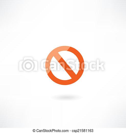 prohibition sign icon - csp21581163