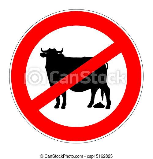 prohibition sign no bullshit - csp15162825