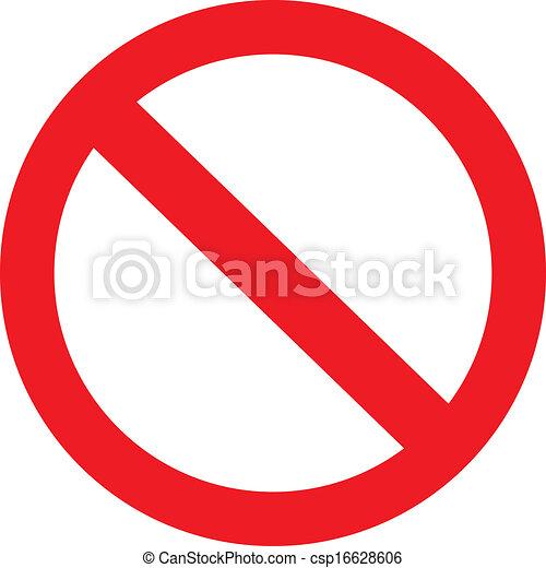 prohibition sign - csp16628606
