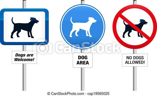 Perros prohibitivos y signos obligatorios - csp19565025