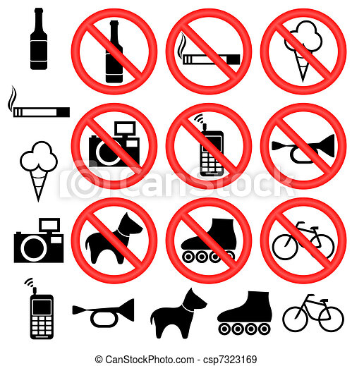 Prohibitory signs. - csp7323169