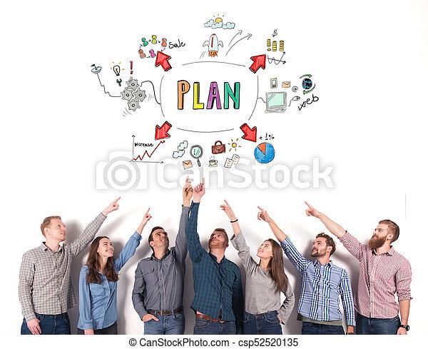 project., ビジネス考え, 創造的, 示しなさい, 概念, チームワーク, チーム - csp52520135