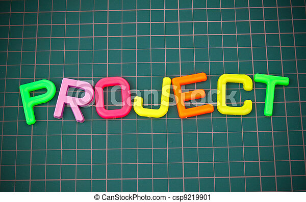 Project in colorful toy letters oncutting mate - csp9219901
