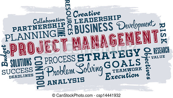Vectors of Project Management Business Words - Business ...
