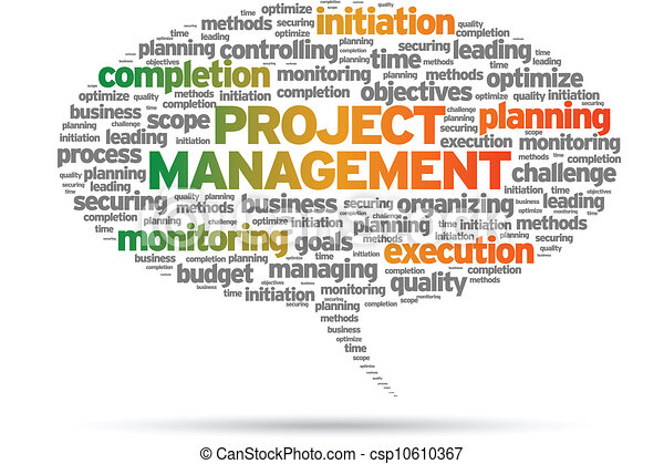 project management speech bubble illustration on white background rh canstockphoto com Risk Management Clip Art project management office clipart