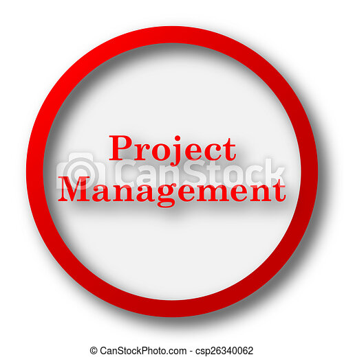 project management icon internet button on white stock rh canstockphoto ca project management office clipart project management clipart free