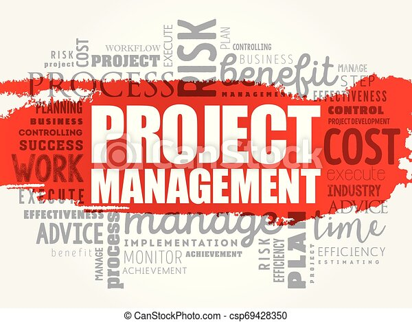 Project Management word cloud collage - csp69428350