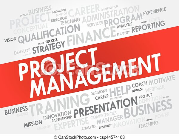 Project Management word cloud collage - csp44574183