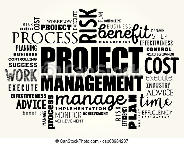 Project Management word cloud collage - csp68984207