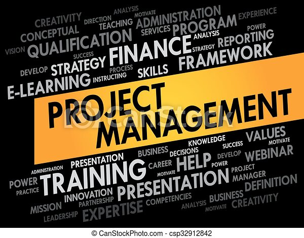 Project Management word cloud - csp32912842