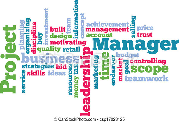 Project Manager Word Cloud - csp17023125