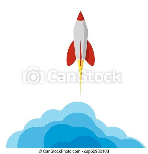project., rakieta, startup., przelotny, space., procurement, presentation., początkowy, albo, ważny - csp52932103