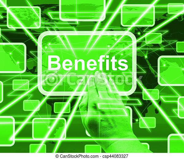 projection, avantages, bonification, bouton, illustration, petits profits, ou, 3d - csp44083327