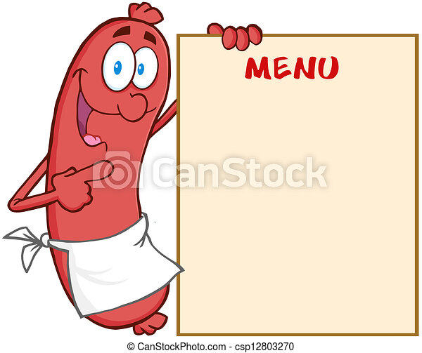 projection, menu, saucisse - csp12803270