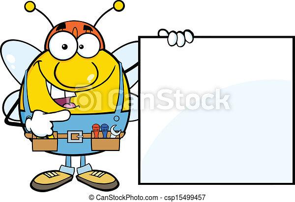 projection, vide, abeille ouvrier, signe - csp15499457