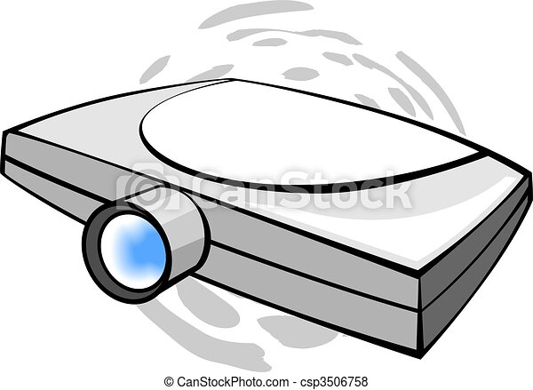 projector illustration of wall projector stock illustration search rh canstockphoto com projector clipart pictures lcd projector clipart