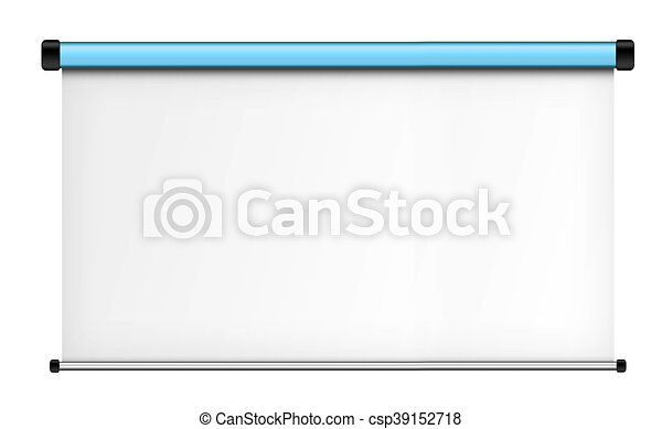 Projector screen isolated on white background. - csp39152718