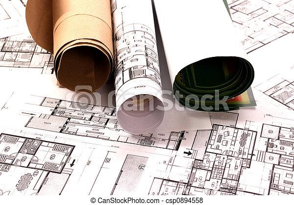 projekt, architektur - csp0894558