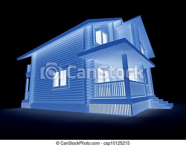 projekt, dwelling-house, nowy - csp10125215