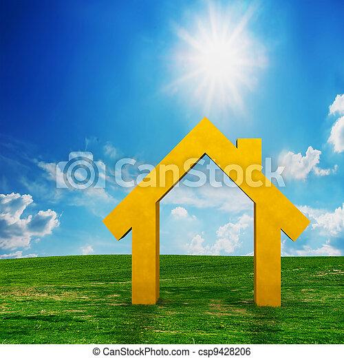 projekt, hus, vision, färsk, fält - csp9428206