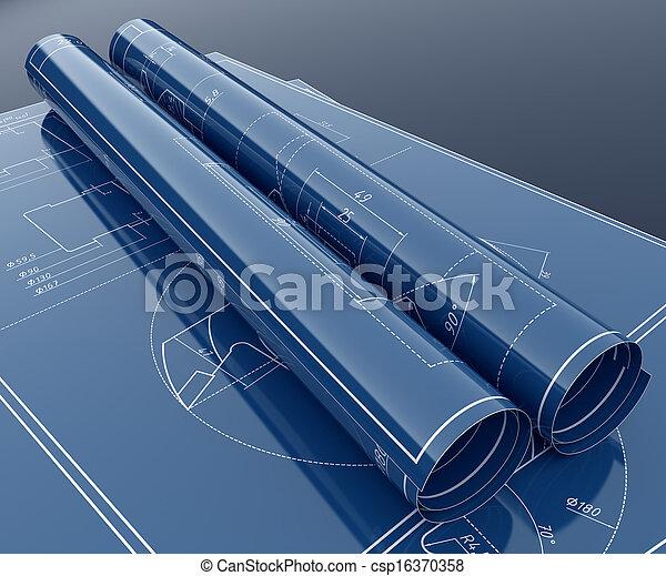 projekt, plan, technologia - csp16370358