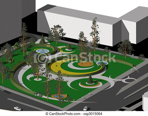 Projet, Jardin. Urbain, Usage, Jardin, Projet, Engendré,  Dessin